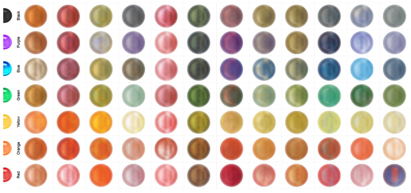 Unsere Farbpalette - available colours
